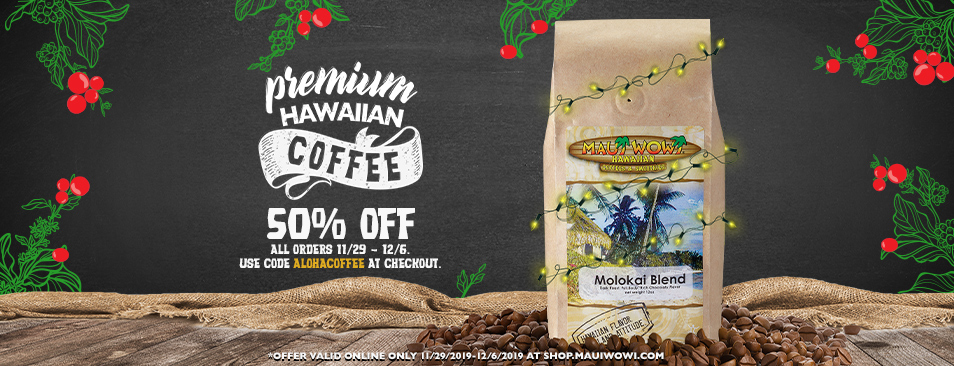 Premium Hawaiian Coffee. Get 50% off your order. Use code ALOHACOFFEE at checkout.